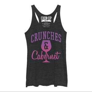 Chin up apparel Crunches & Cabernet racerback tank